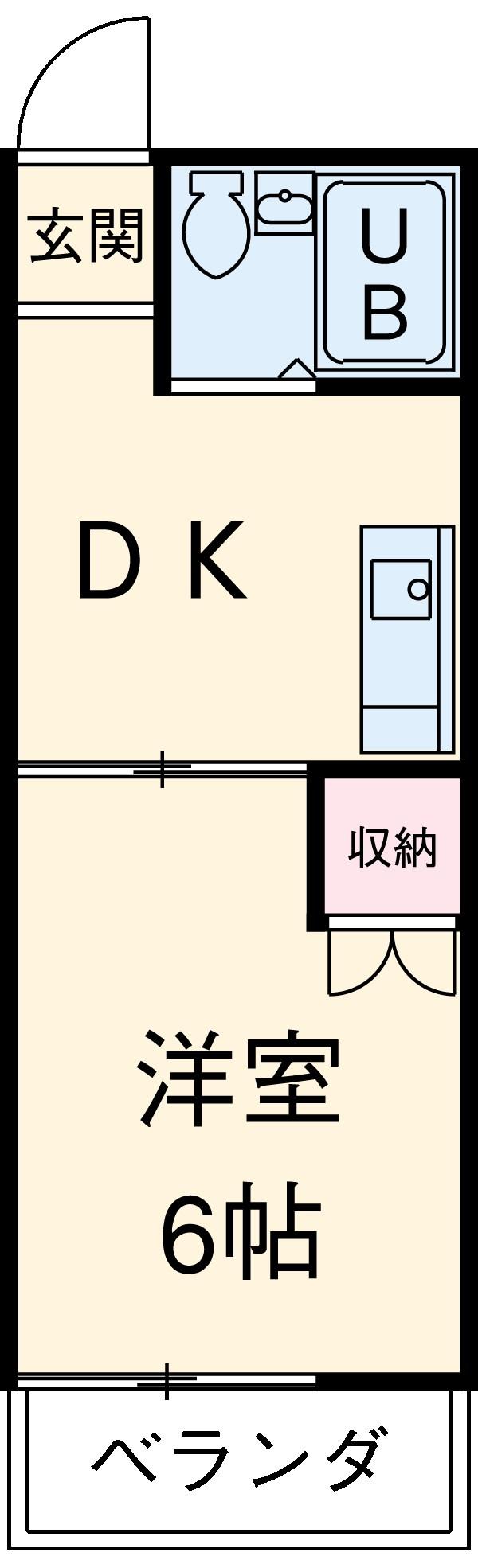 コーポ平成Ⅰ 201号室の間取り
