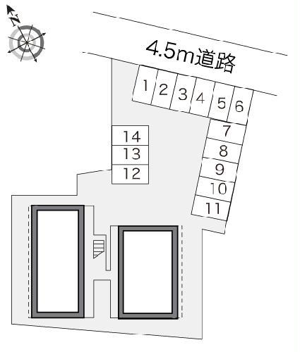 レオパレス小林 108号室の駐車場