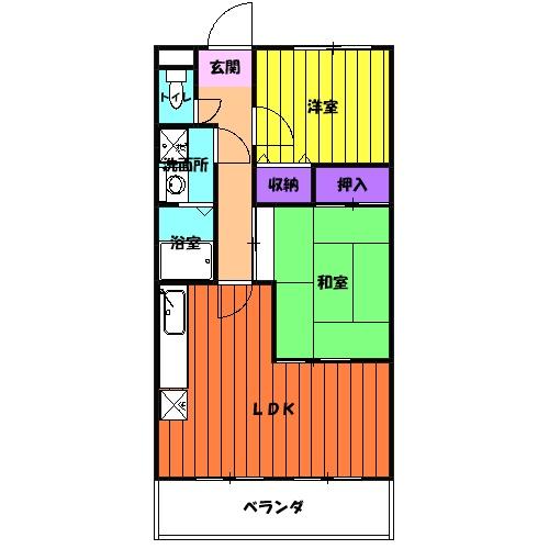 イーストロイヤル斉藤・502号室の間取り