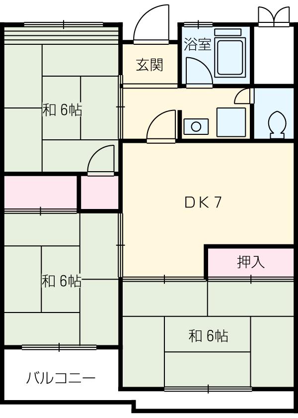 三宅ビル 402号室の間取り
