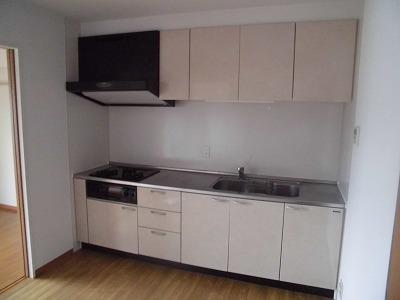 ゼフィール大清水 102号室のキッチン