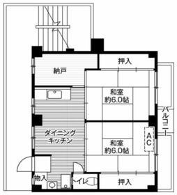 ビレッジハウス二和1号棟・0404号室の間取り