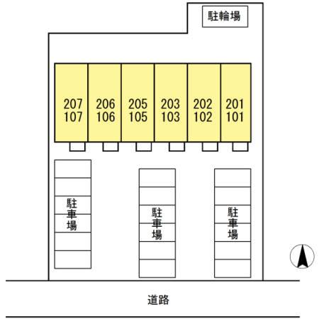 D-room大崎 203号室の駐車場