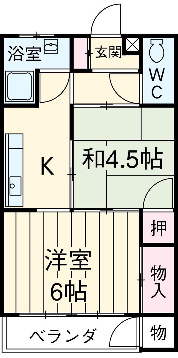 ミヨカワビル 402号室の間取り