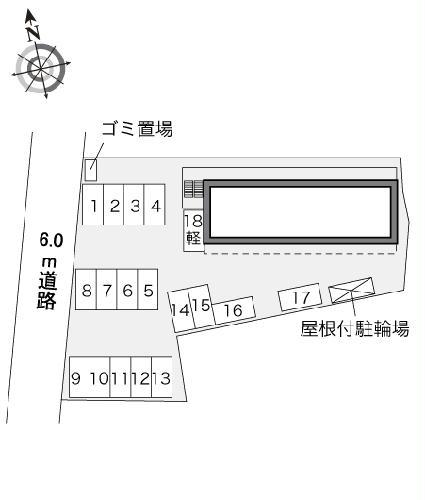レオパレスカーサフィオーレ 101号室の駐車場