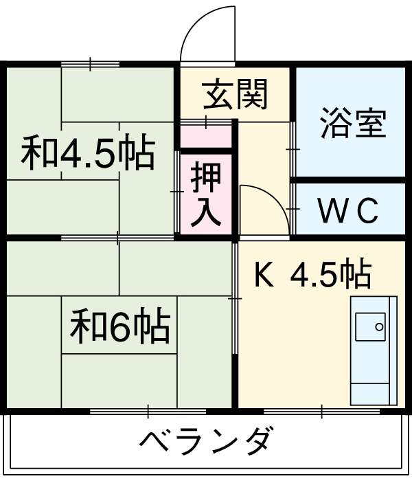 井川ハイツ 203号室の間取り