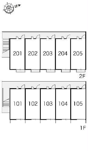 レオパレスヴィクトワール 203号室の設備