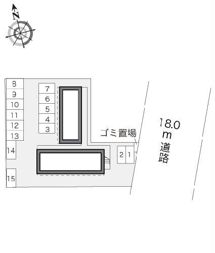 レオパレスMINA 205号室の駐車場