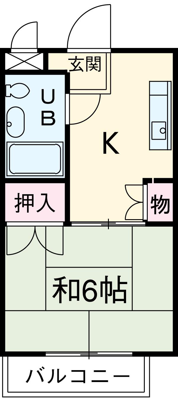 福岡ワンルームマンション B401号室の間取り