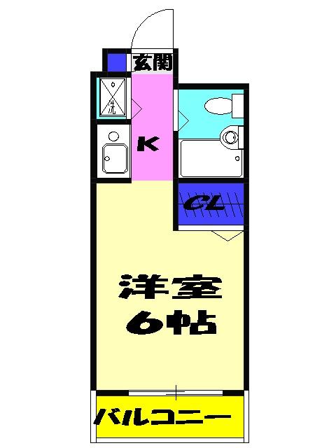 ジョイフル津田沼Ⅲ 206号室の間取り