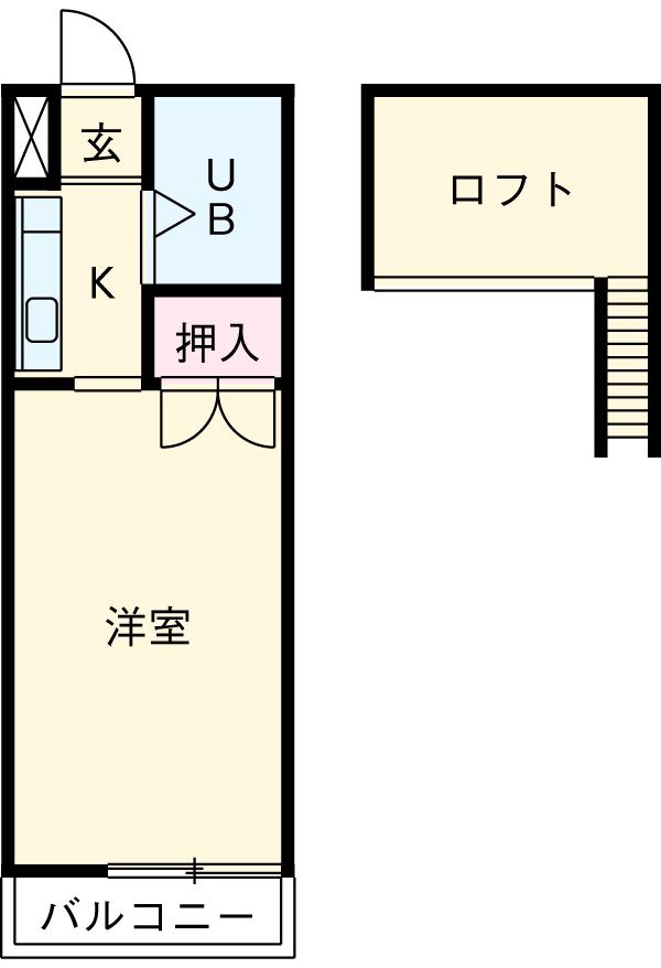 メゾンクレール・208号室の間取り