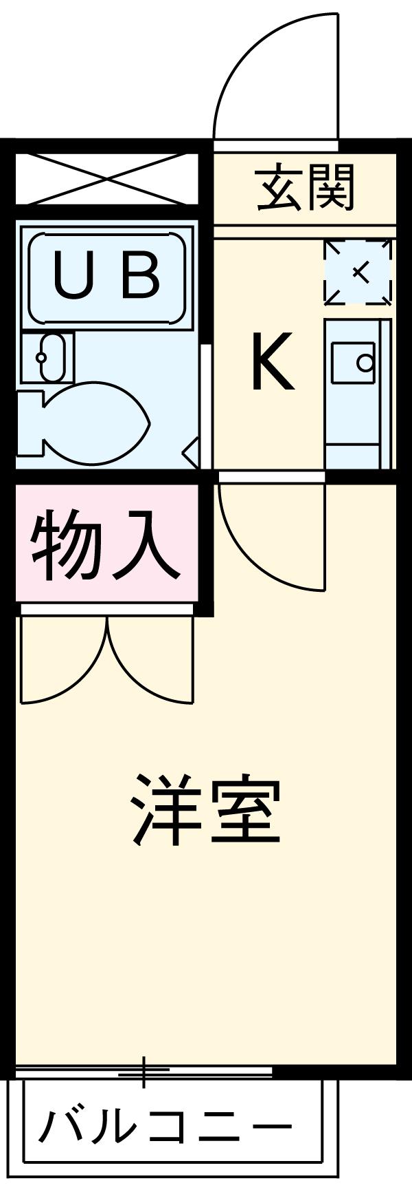 RX豊田 404号室の間取り