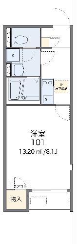 レオネクストエスベランサ 107号室の間取り