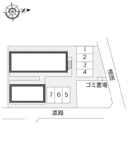 レオパレスソフィア 105号室の駐車場