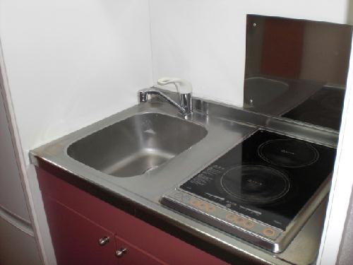 レオパレスナチュラルA 203号室のキッチン