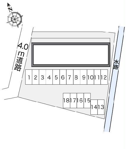 レオパレスMARCHENⅡ 208号室の駐車場