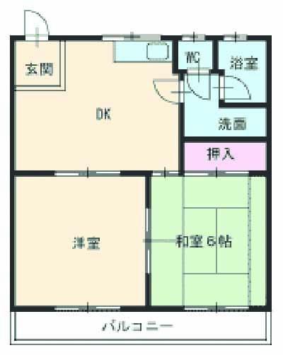 メゾンKAMII Ⅱ 101号室の間取り