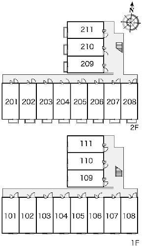 レオパレスシルバ コート 210号室のその他共有