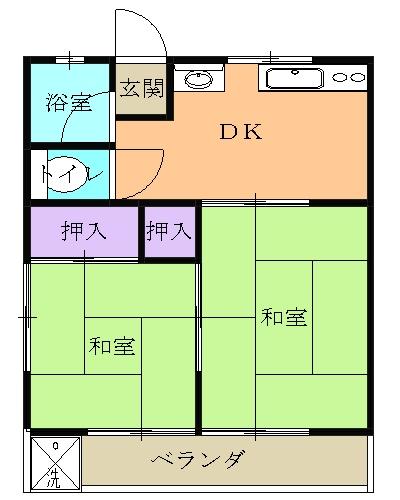 和宏コーポ 1-1号室の間取り