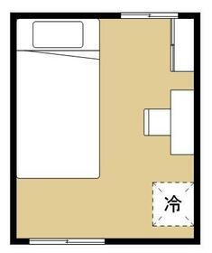 ヒッポハウス桜・206号室の間取り