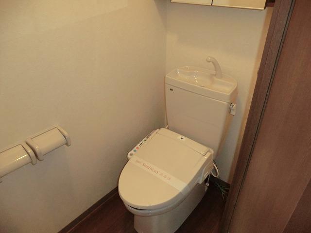 リビュール上縄 103号室のトイレ
