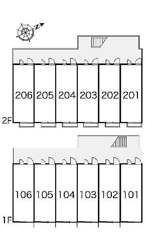 レオパレス明大寺 105号室の駐車場