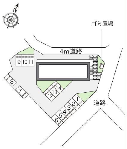 レオパレスT&H 107号室の駐車場