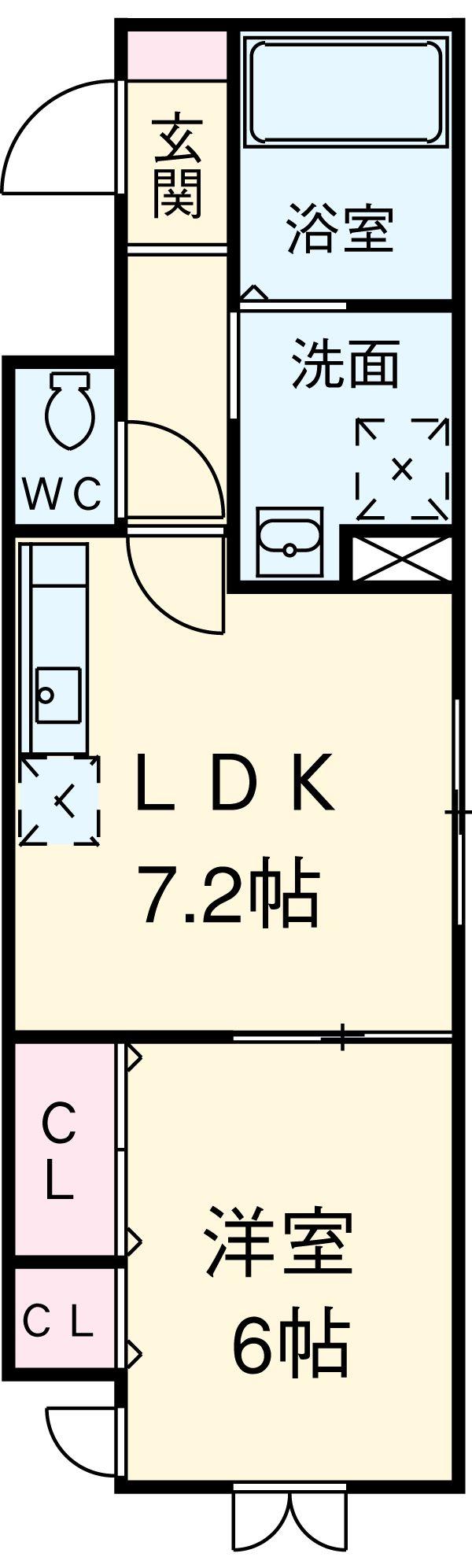 Klingel Baum 405号室の間取り