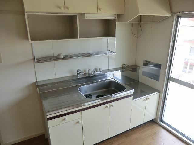 ハピネス緑 303号室のキッチン