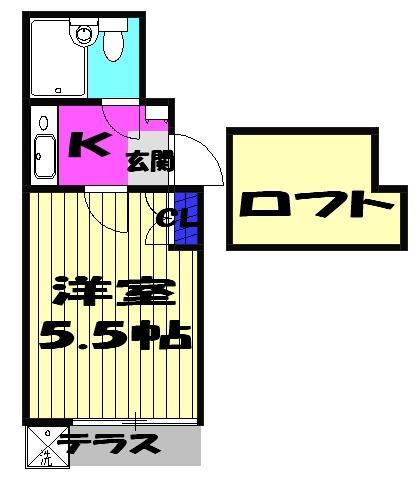 習志野JKハイツ 103号室の間取り