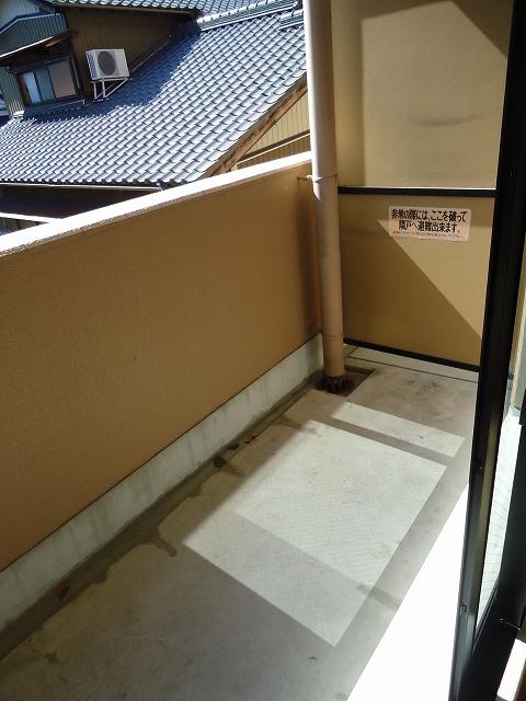 ティエリア豊田 D10号室のバルコニー