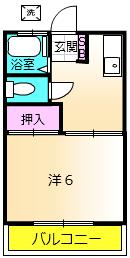 第二城田荘 202号室の間取り
