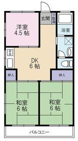 横田ハイツ・305号室の間取り