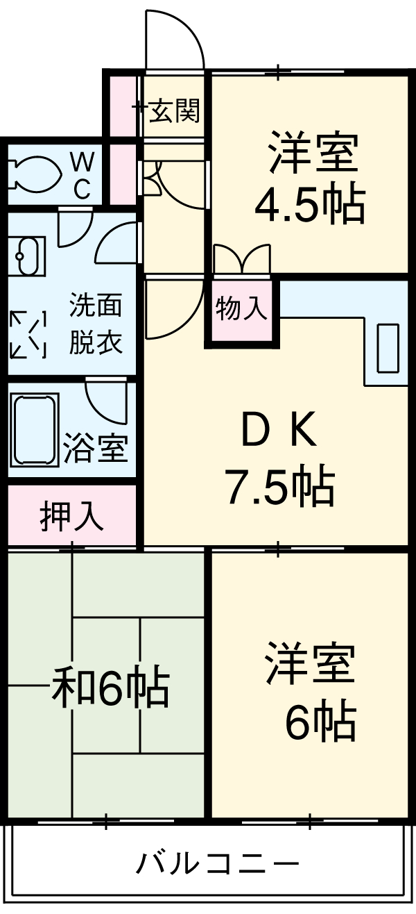 洋光台田中ビル・305号室の間取り