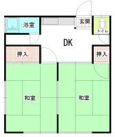 第1富士見荘 102号室の間取り
