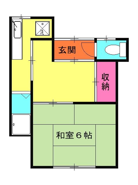 奥山アパート A 102号室の間取り