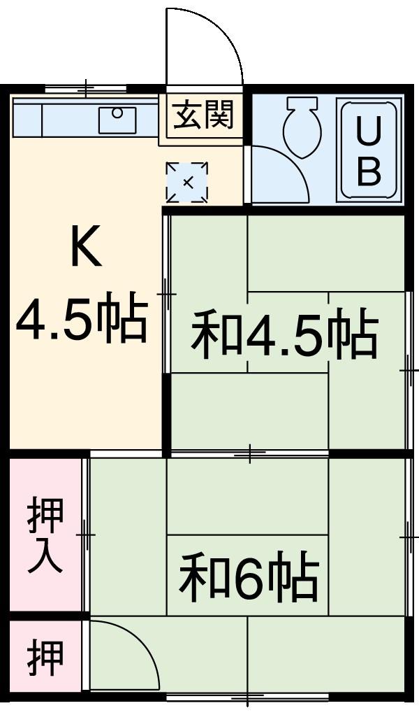 田口荘 302号室の間取り