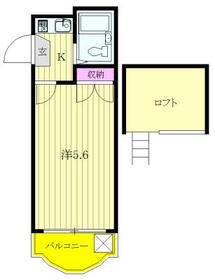 タンデム富岡・208号室の間取り