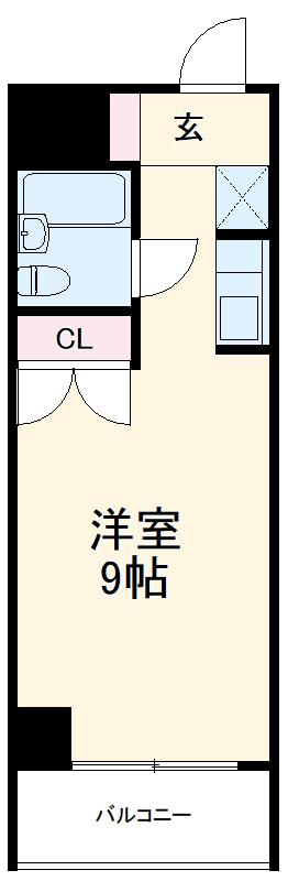 横浜三吉町第4レッツビル・202号室の間取り