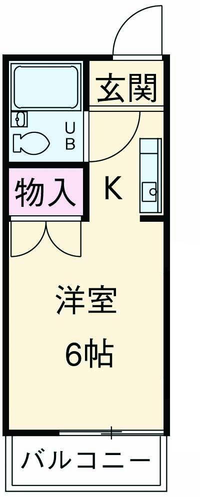 ドリームハウス鶴川・206号室の間取り