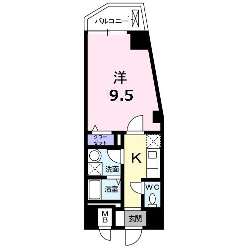 エルシェ 横濱 08030号室の間取り