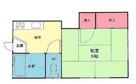 上倉田アパート 201号室の間取り