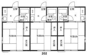MMハウス・202号室の間取り