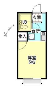 リバーサイド・シモゴー・206号室の間取り