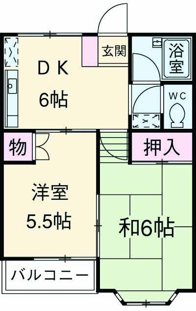 ハイネス竹桜・203号室の間取り