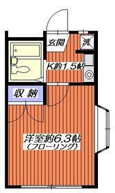 ドルフィン鎌倉Ⅱ・204号室の間取り