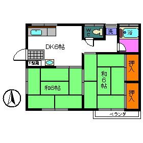 内田荘・101号室の間取り