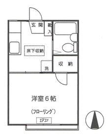 近藤アパート・202号室の間取り