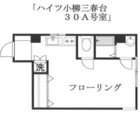 ハイツ小柳三春台・30A号室の間取り