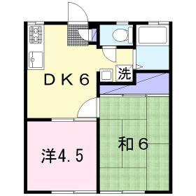 岸田ファミリーハイツ 101号室の間取り